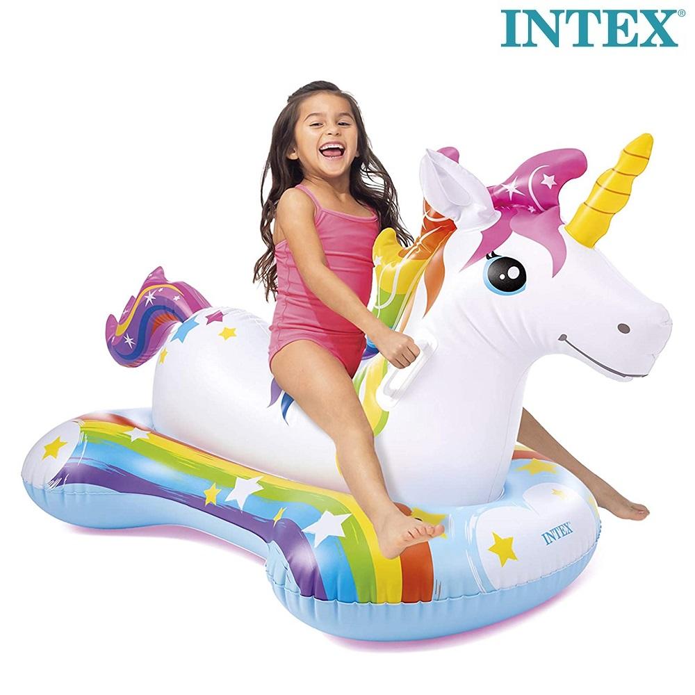 Oppustelig poollegetøj Intex Unicorn XL