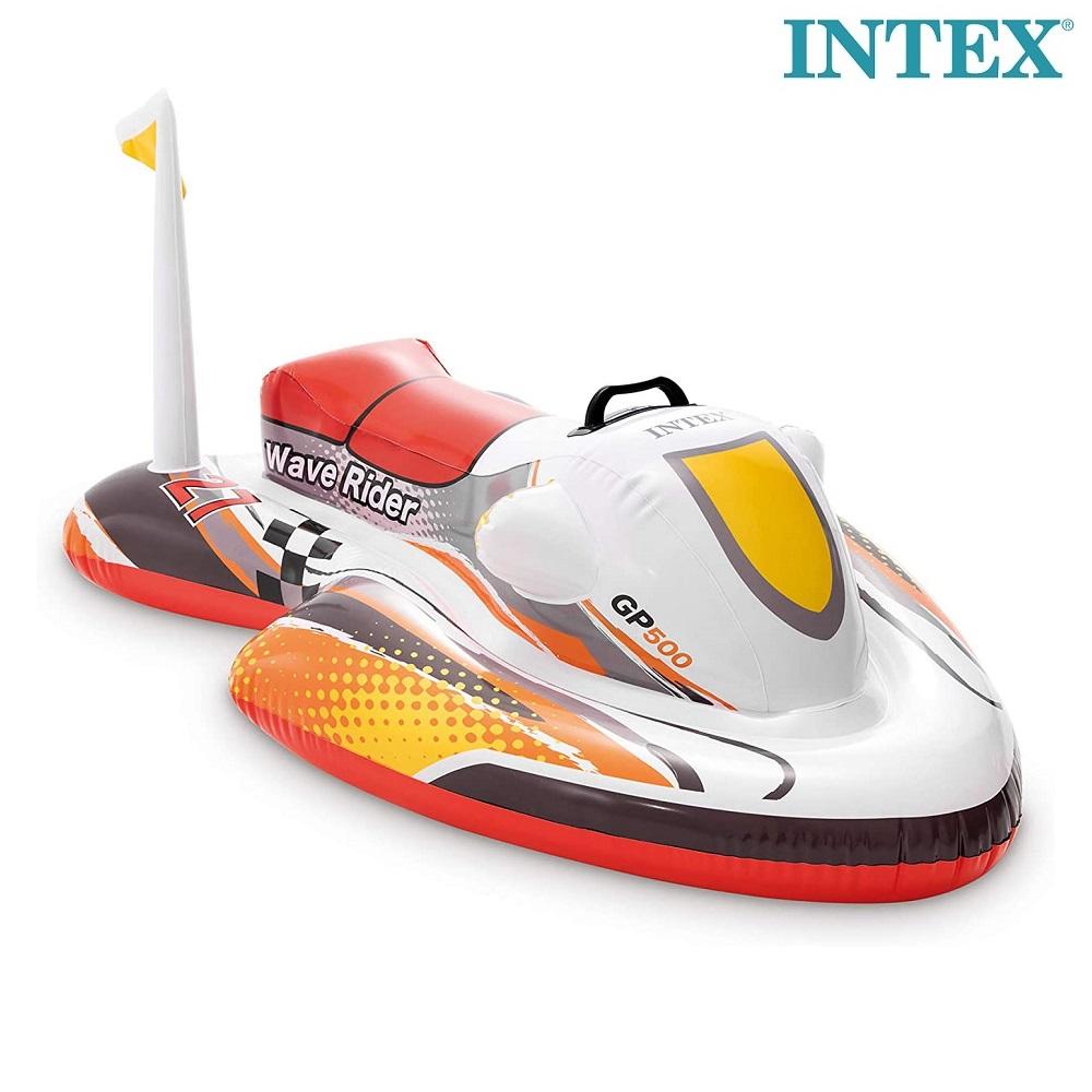 Oppustelig legetøj til pool Intex Rød Scooter