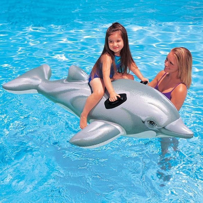 Oppustelig legetøj til pool Intex Delfin XL