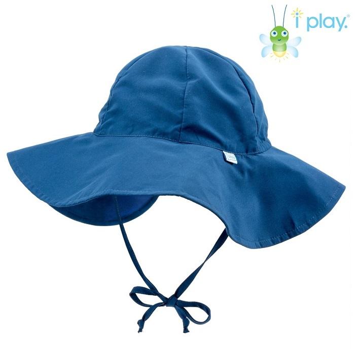 UV solhat med skygge til børn Iplay Navy blå