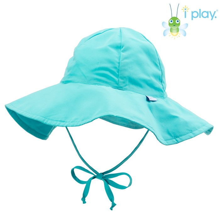UV solhat med skygge til børn Iplay Aqua blå