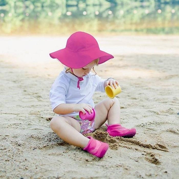 UV solhat med skygge til børn Iplay Hot Pink lyserød
