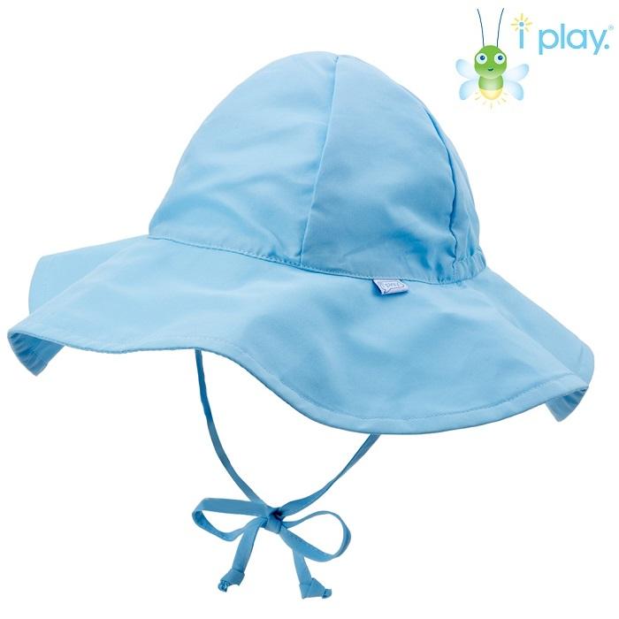 UV solhat med skygge til børn Iplay lyseblå