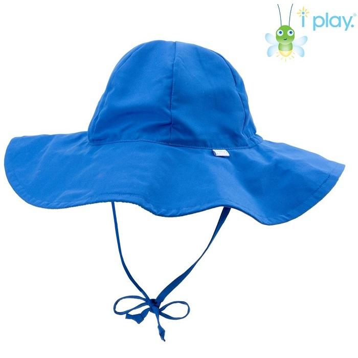 UV solhat med skygge til børn Iplay Royal blå