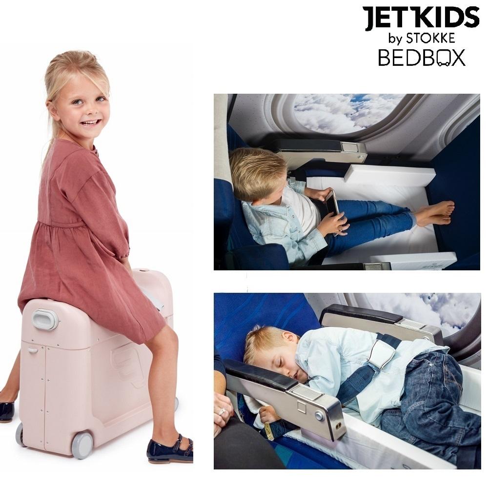 Flyseng og kuffert Jetkids BedBox lyserød