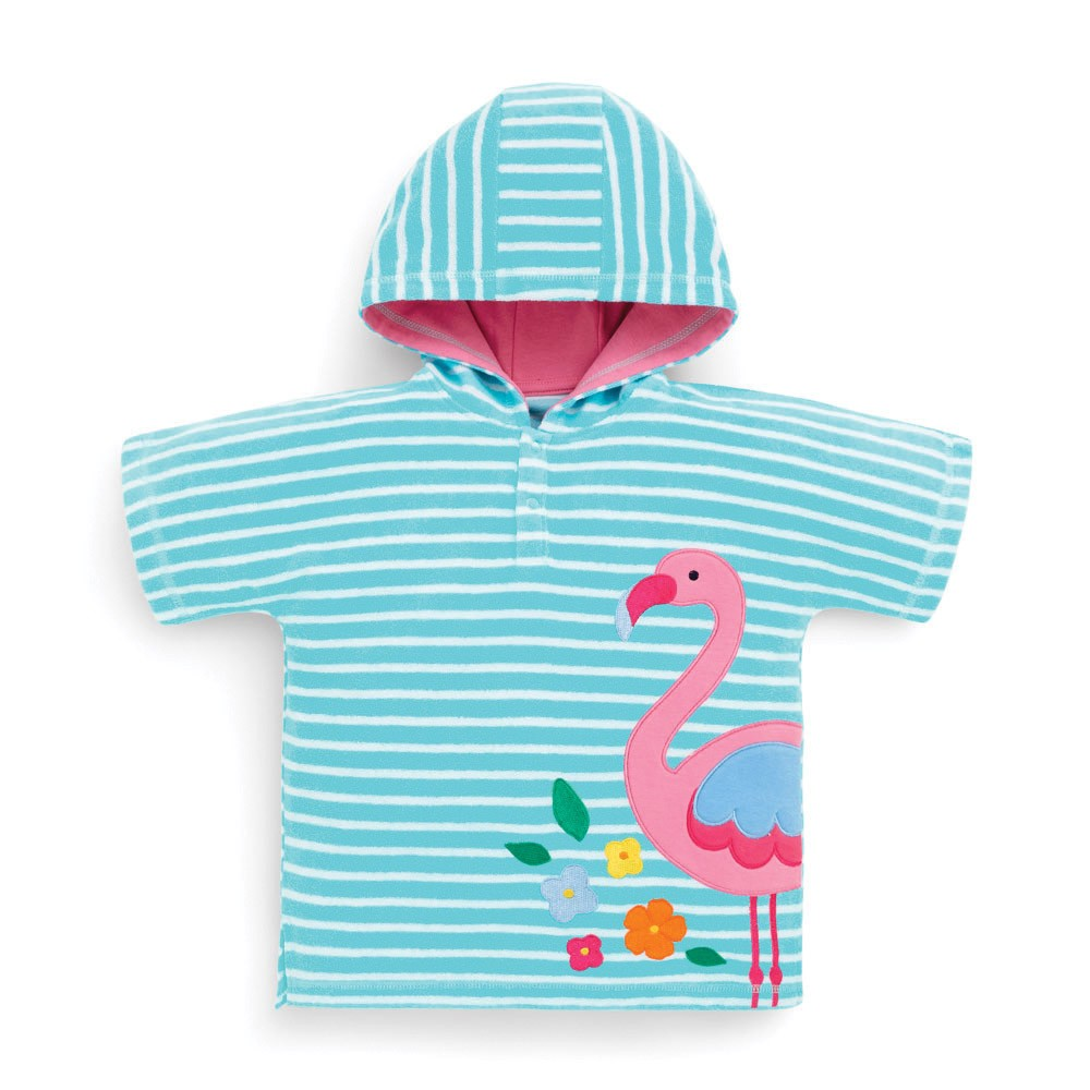 Badeponcho til børn Jojo Maman Bébé Flamingo