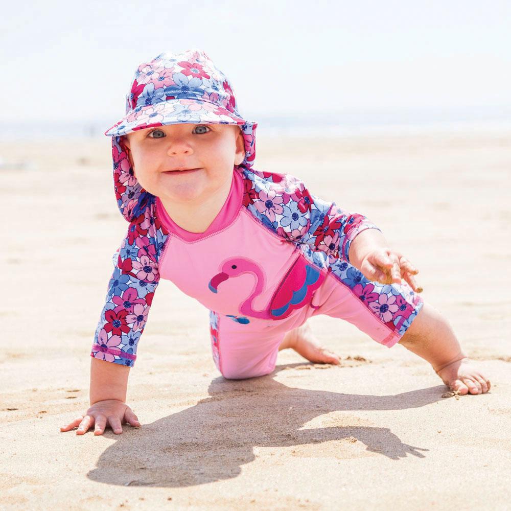 Jojo Maman Bébé UV-dragt - Flamingo