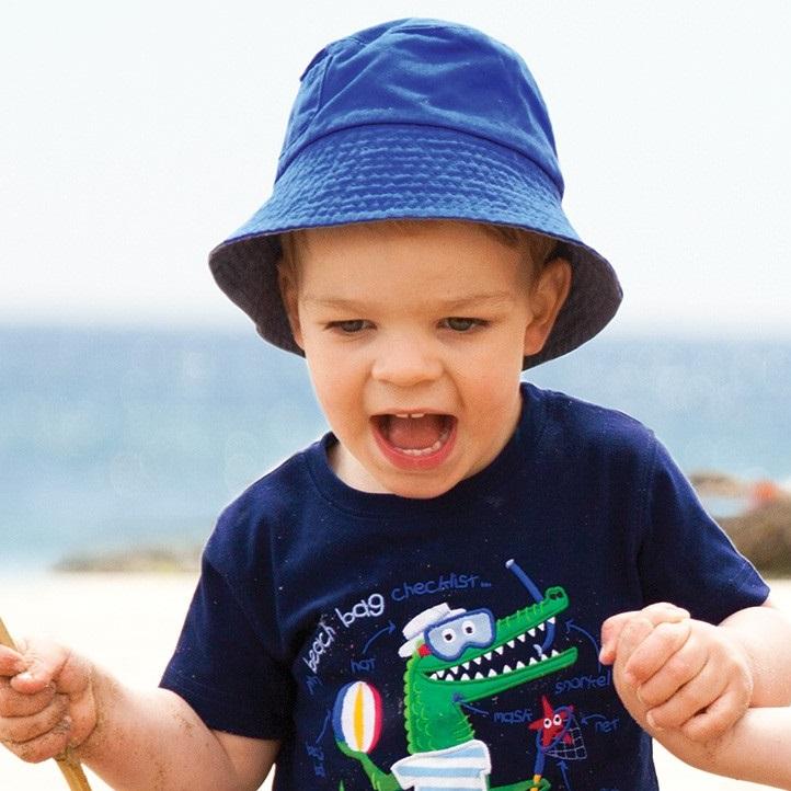 UV solhat til børn Jojo Maman Bébé Bucket Cobalt blå