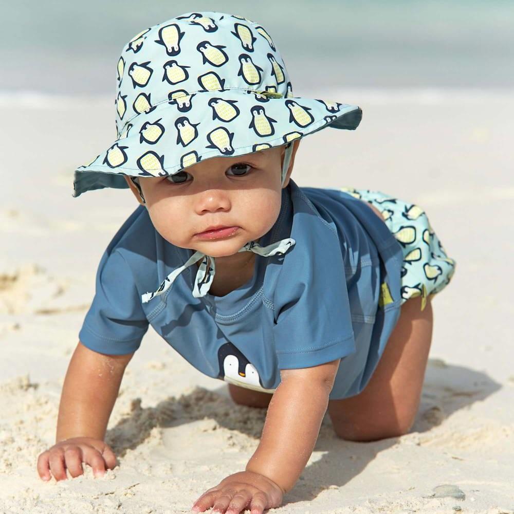 Vendbar solhat til børn Lässig Blue Penguin