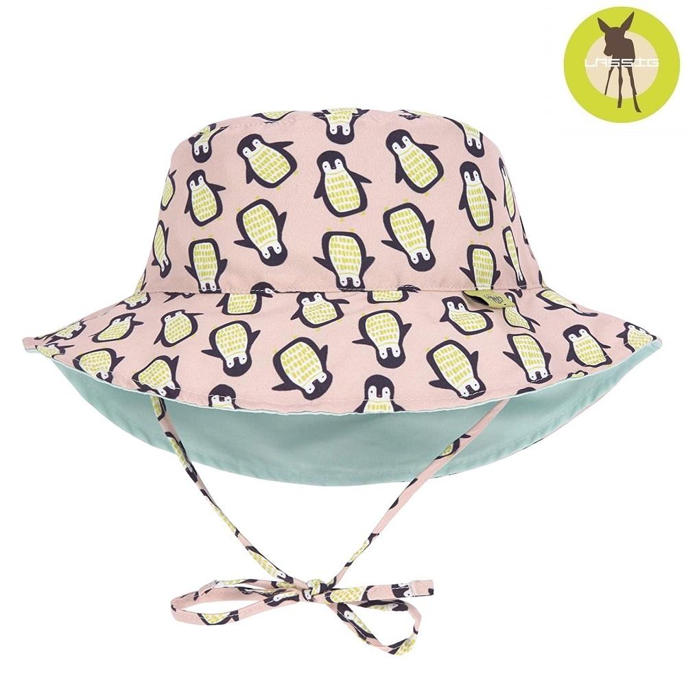 Vendbar solhat til børn Lässig Pink Penguin