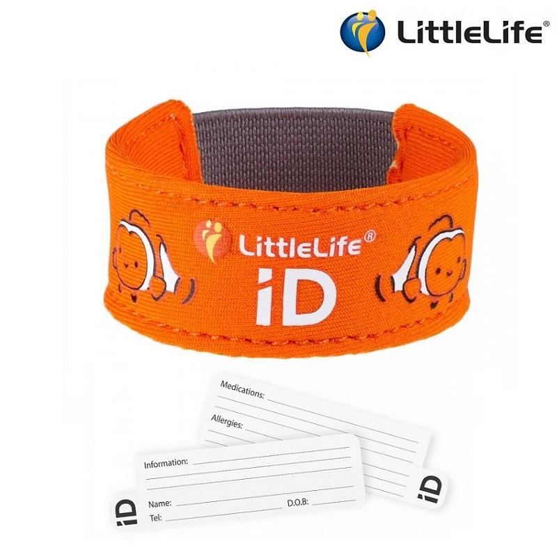 ID-armbånd til børn LittleLife Id Strap Klovnefisk orange