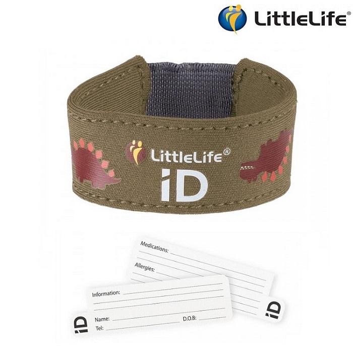 ID-armbånd til børn LittleLife Id Strap dino