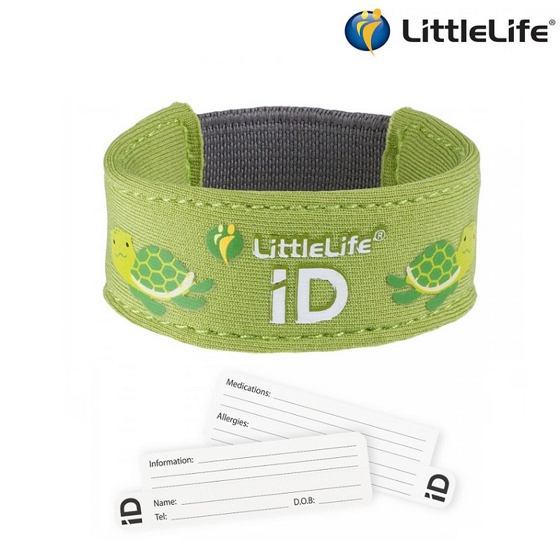 ID-armbånd til børn LittleLife Id Strap Dino grøn