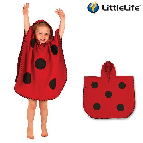 Badeponcho til børn LittleLife Mariehøne