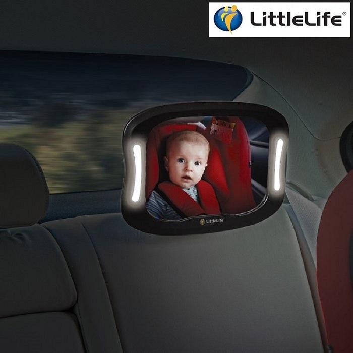 Bagsædespejl LittleLife LightUp Mirror