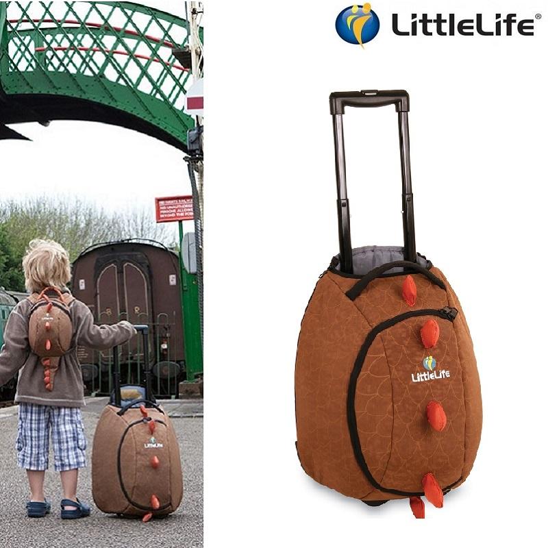 Børnekuffert LittleLife Wheelie Duffle Dino