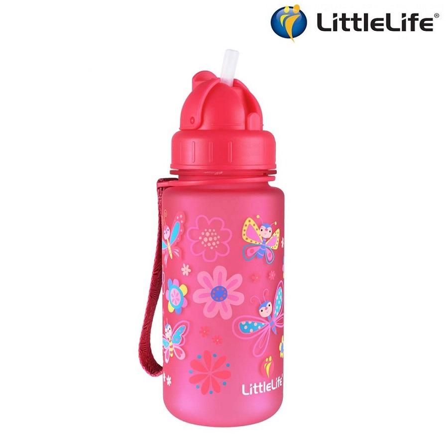 Drikkedunk til børn LittleLife Butterfly lyserød