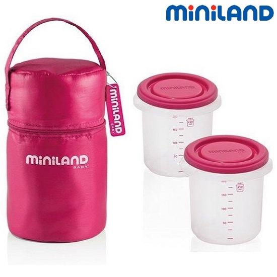 Termo madkasse Miniland Pack 2 Go lyserød