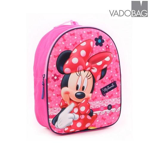 Rygsæk til børn Minnie Mouse 3D lyserød