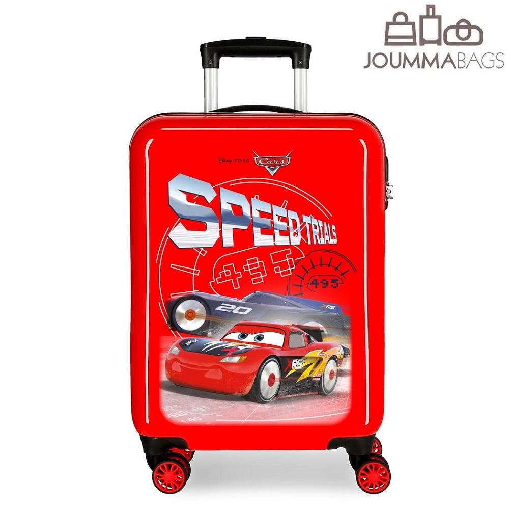 Børnekuffert Biler Speed Trials rød