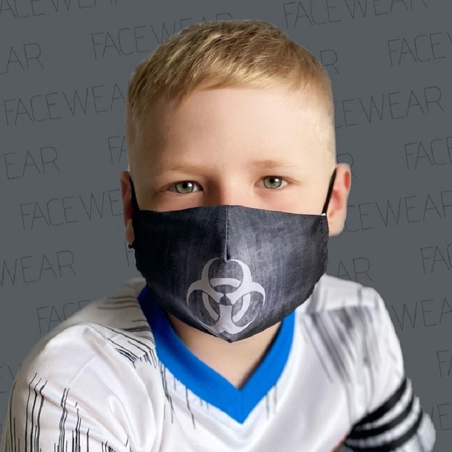 Mundbind til børn Facewear Biohazard sort