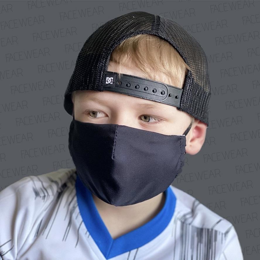 Mundbind til børn Facewear sort