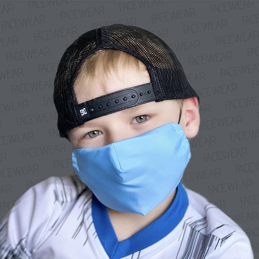 Mundbind til børn Facewear blå