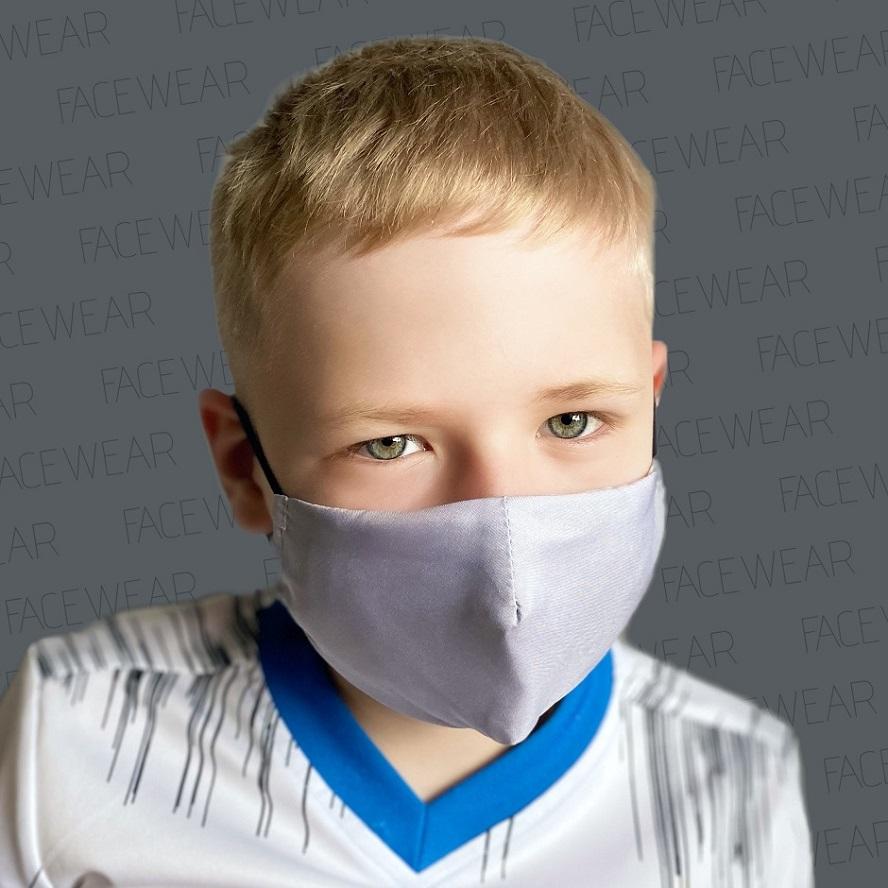 Mundbind til børn Facewear grå