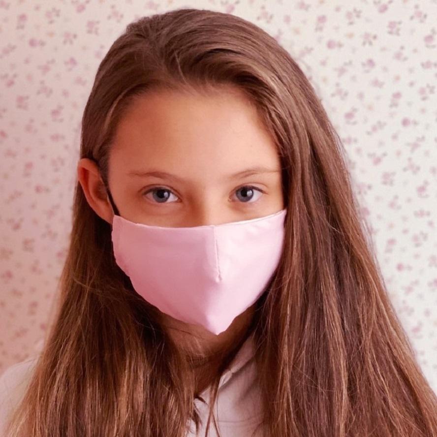 Mundbind til børn Facewear lyserød