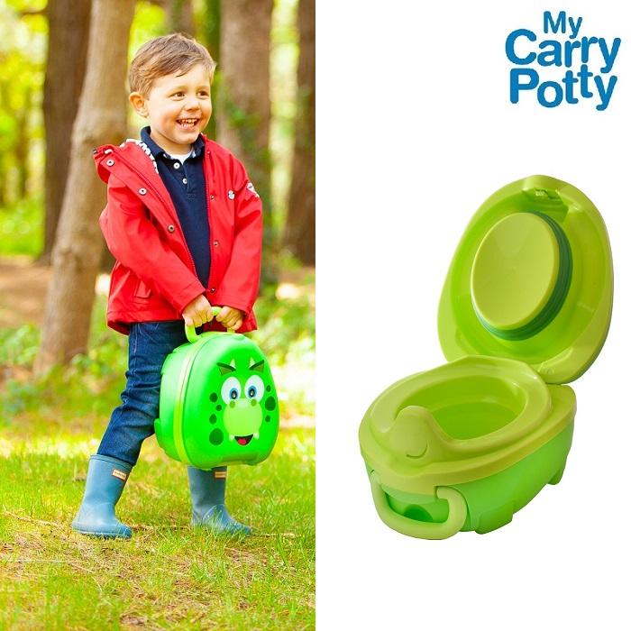 Rejsepotte My Carry Potty Dino grøn