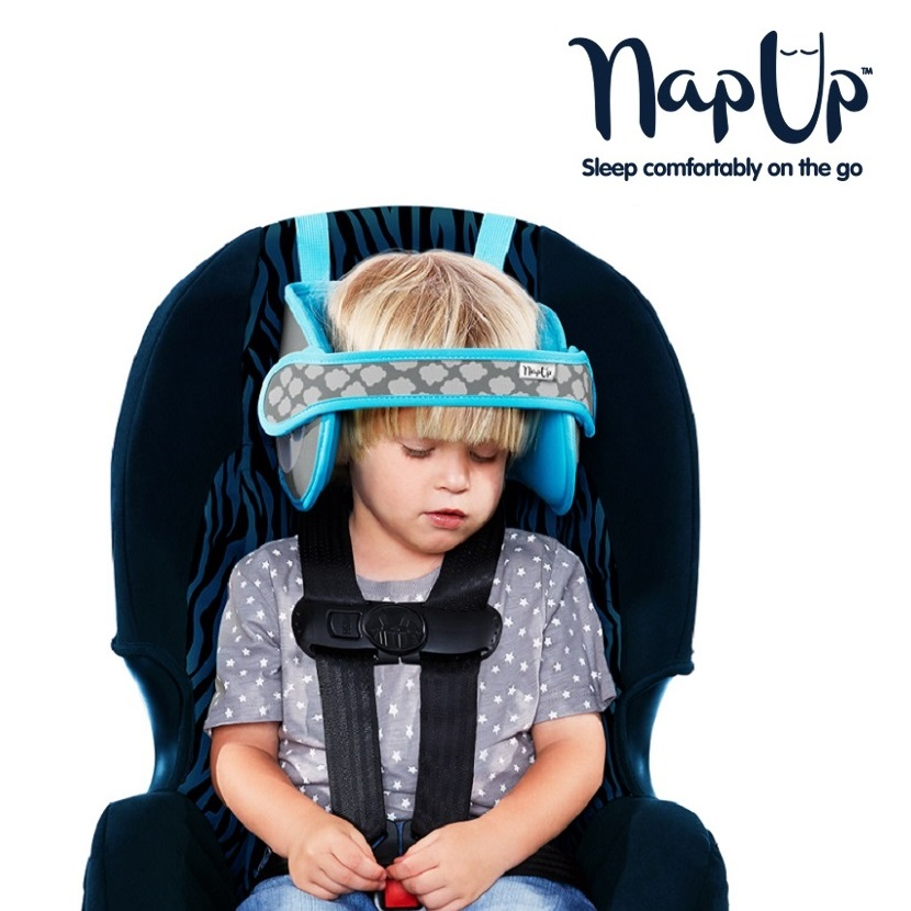 NapUp hovedstøtte til børn - Blå