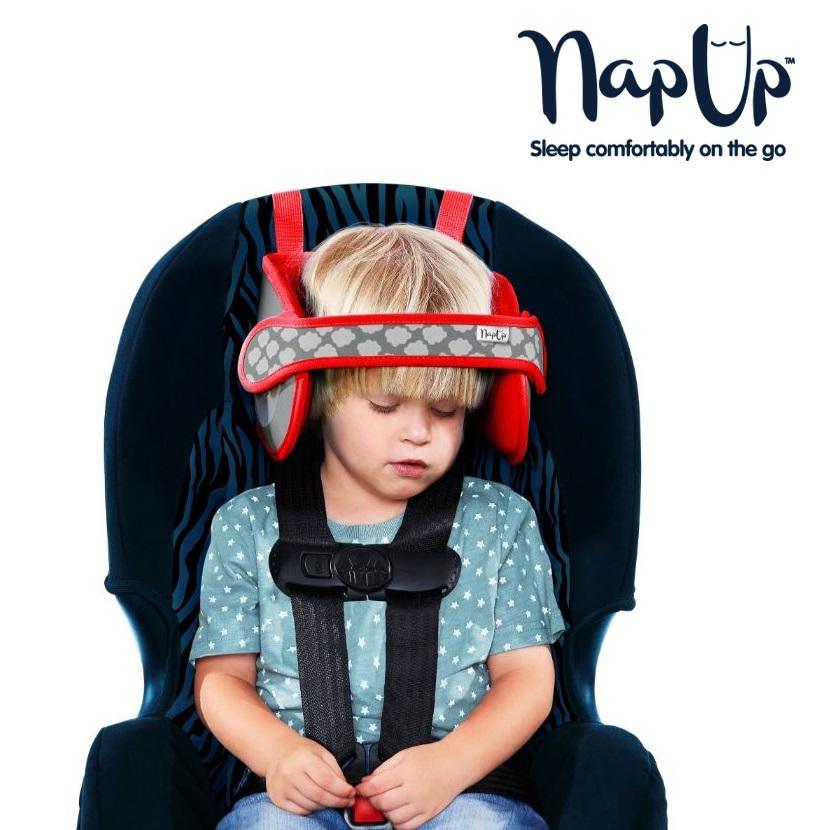 NapUp hovedstøtte til børn - Rød