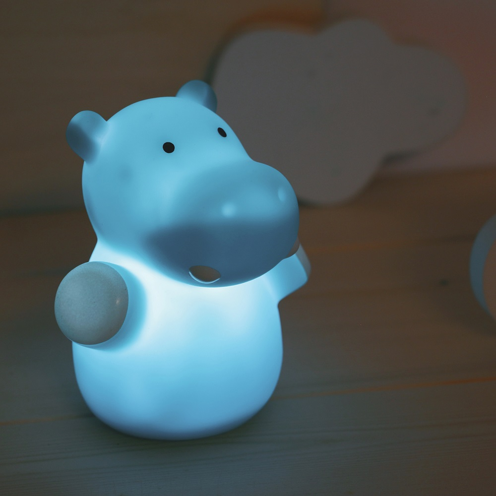 Natlampe til børn Mini Zoo Hippo