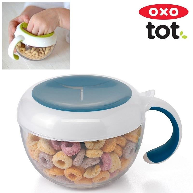 Snackkop med låg OXO Tot Flippy Snack Cup Teal