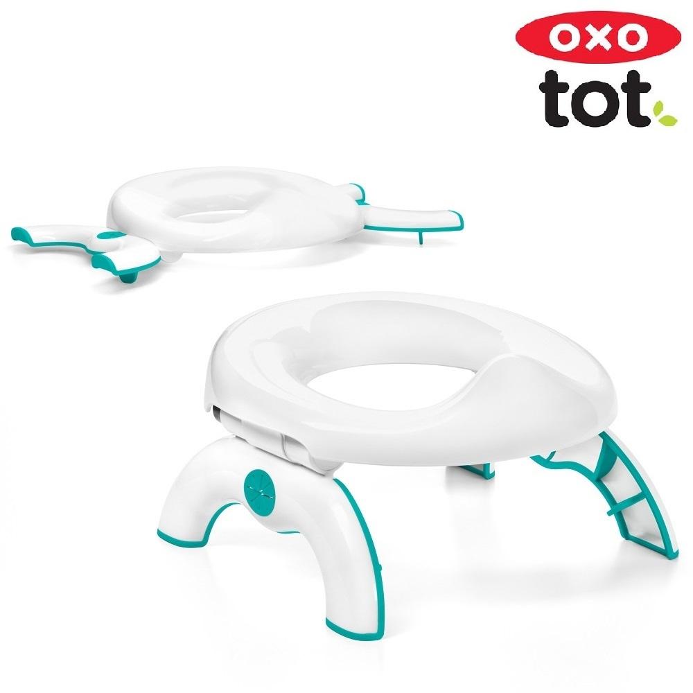 Rejsepotte og toiletsæde til børn OXO Tot Go Potty Teal
