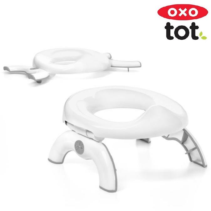 Rejsepotte og toiletsæde til børn OXO Tot Go Potty grå