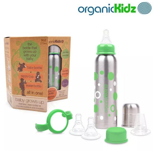 Termoflaskesæt OrganicKidz sæt - Green Dots