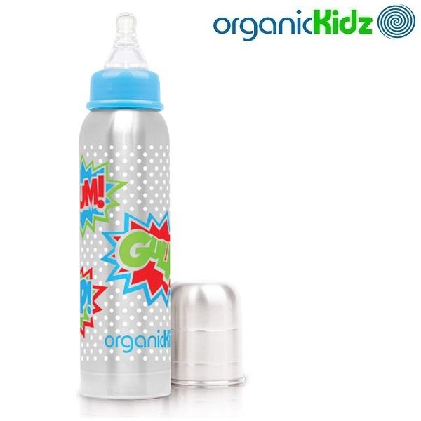 Termoflaske og rustfri sutteflaske OrganicKidz Bam!