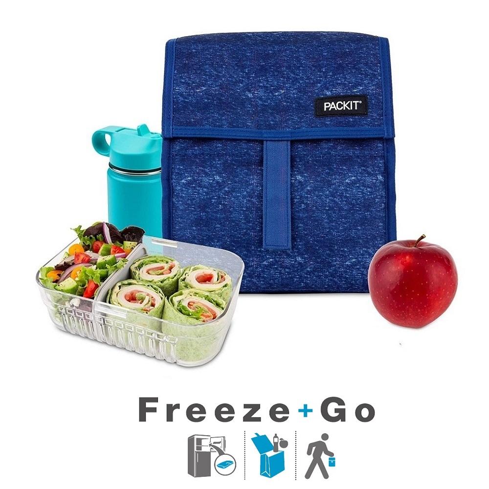 Lille køletaske til børn Packit Lunch Bag Navy Heather