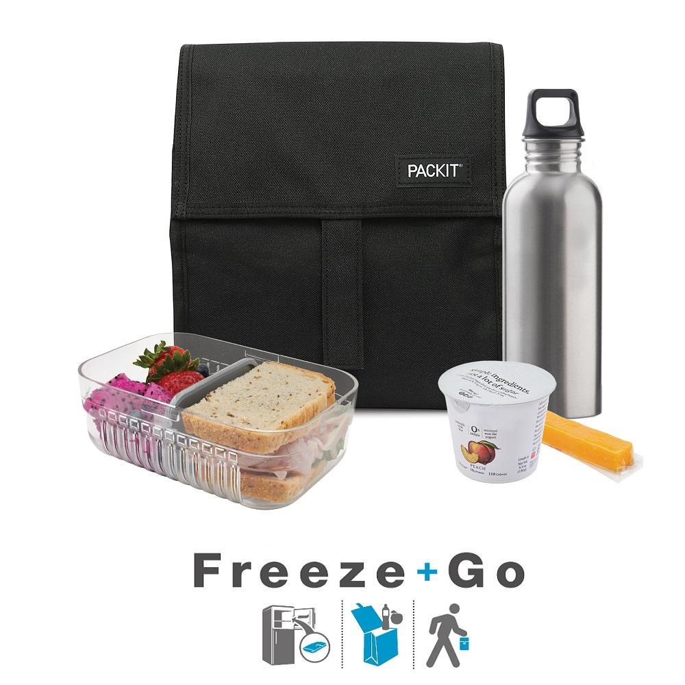 Lille køletaske Packit Freezable Cooler Bag sort