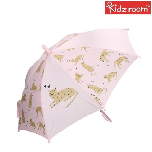 Paraply til børn Kidzroom Leopard lyserød