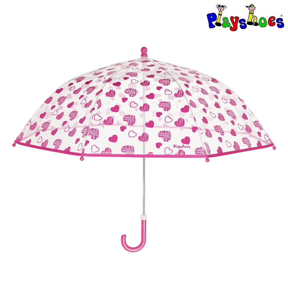 Paraply til børn Playshoes Hjerter