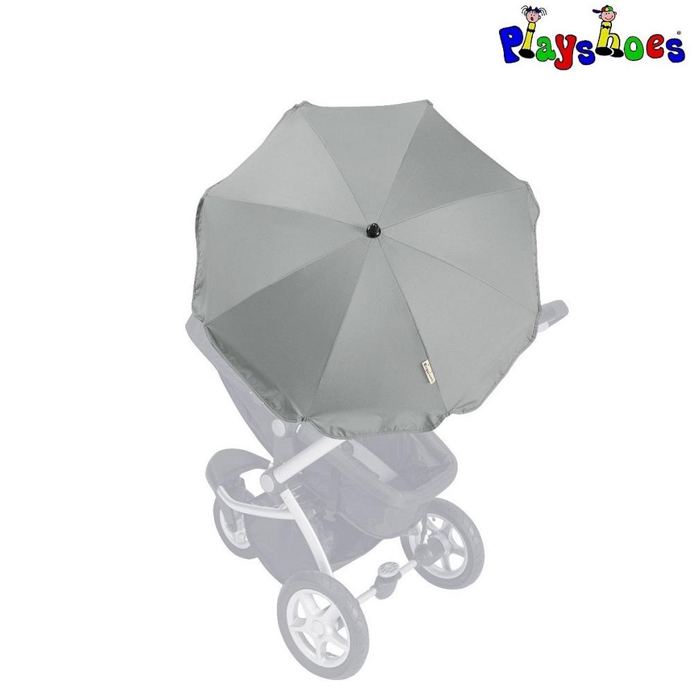 Parasol til barnevogn Playshoes grå