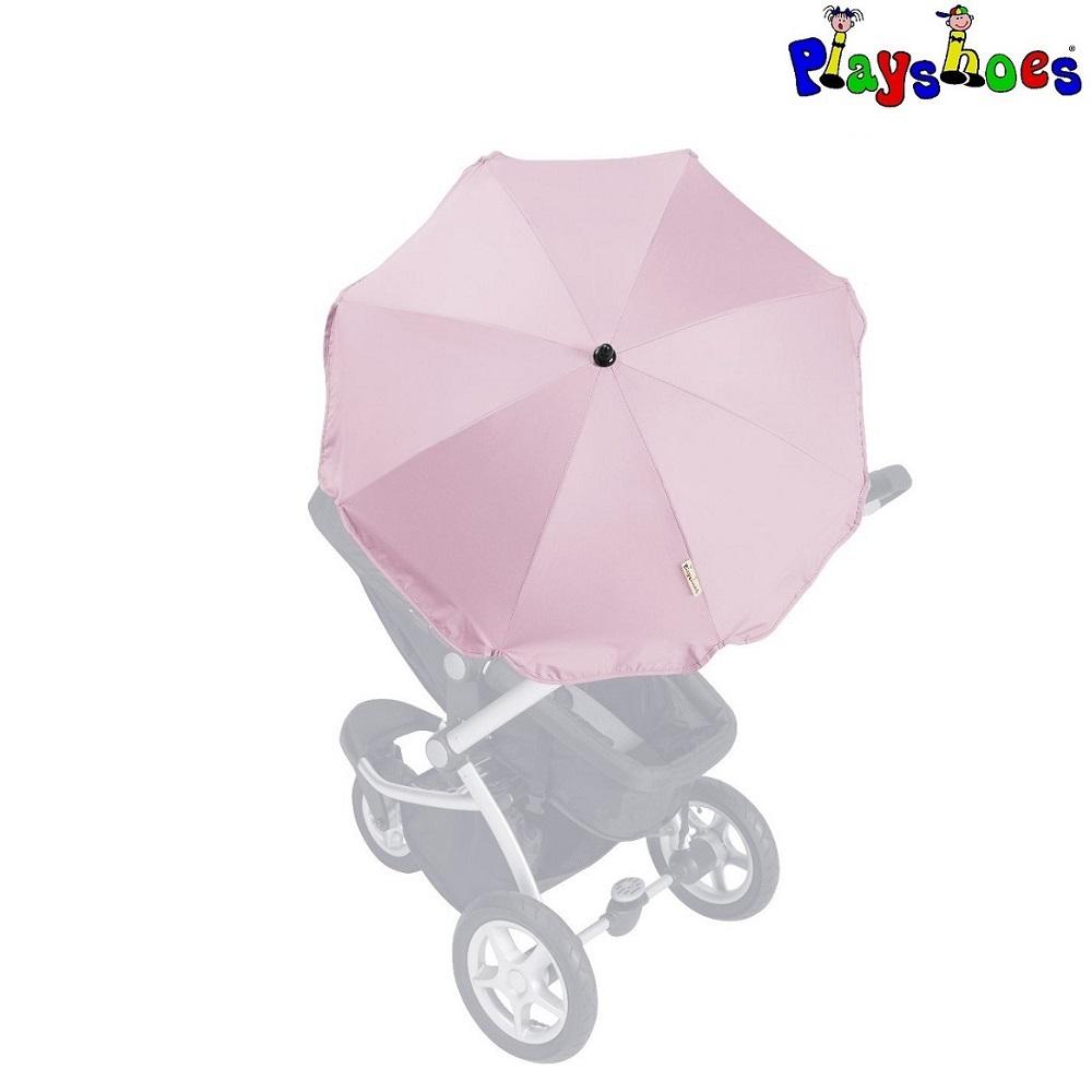Parasol til barnevogn Playshoes lyserød