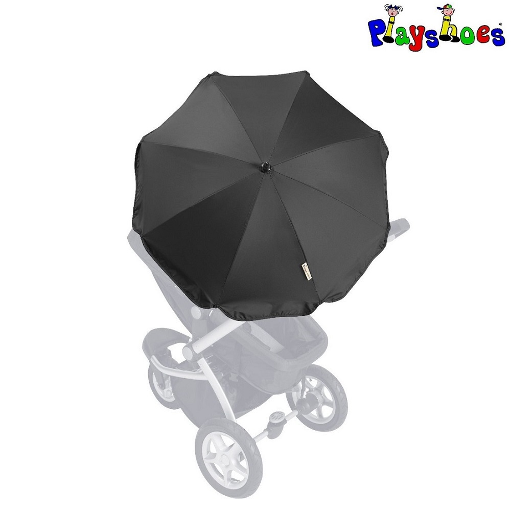 Parasol til barnevogn Playshoes sort