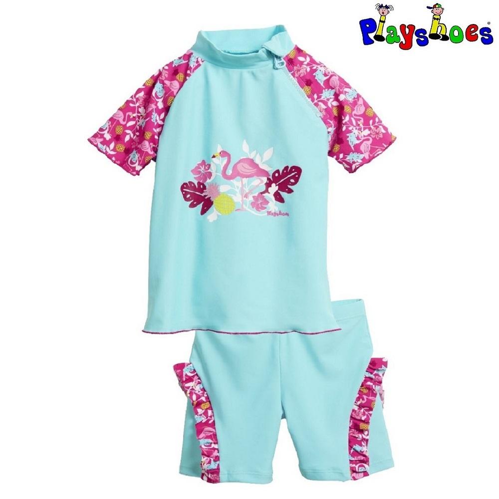 UV trøje og UV shorts til børn Playshoes Flamingo