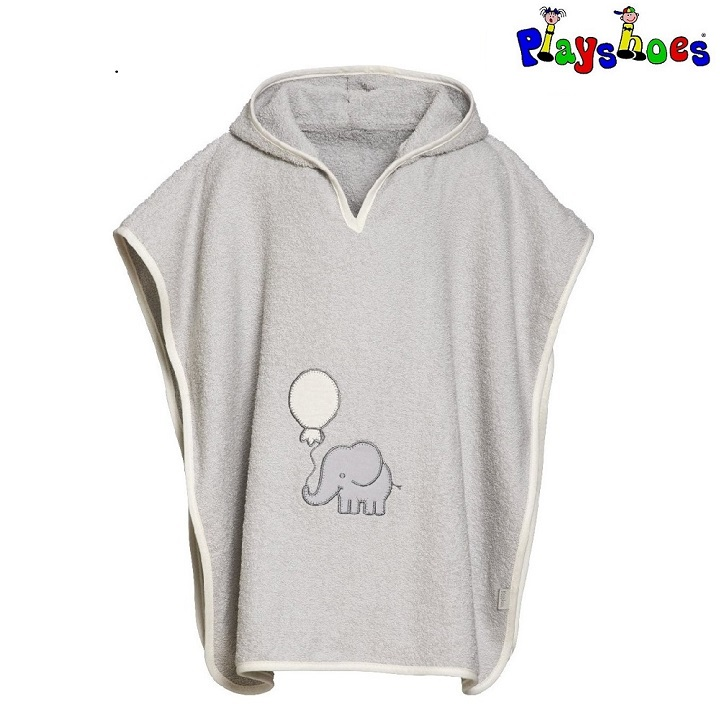 Badeponcho til børn Playshoes Grey Elephant