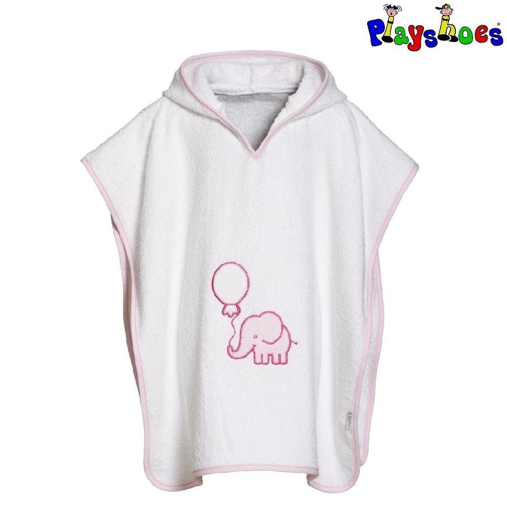 Badeponcho til børn Playshoes Pink Elephant
