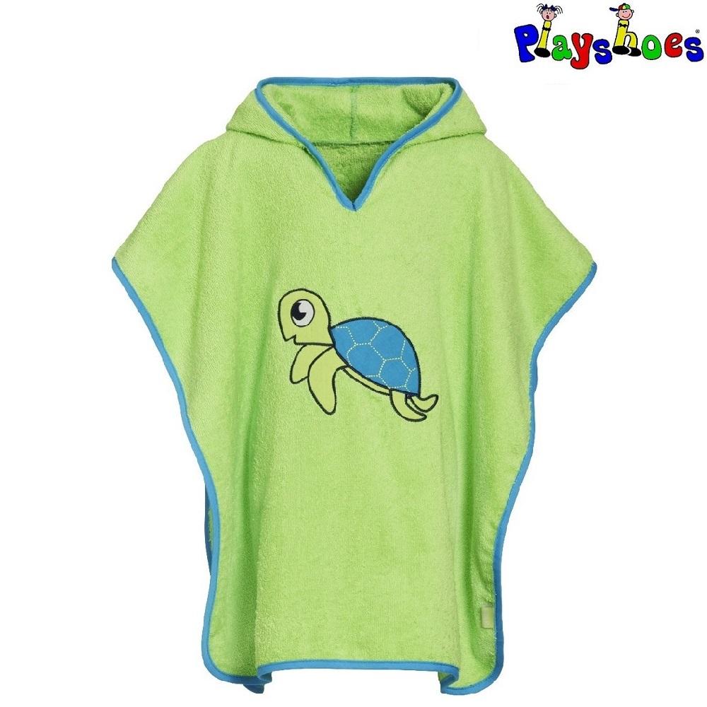 Badeponcho til børn Playshoes Turtle grøn
