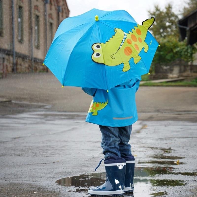 Børneparaply Playshoes Crocodile blå